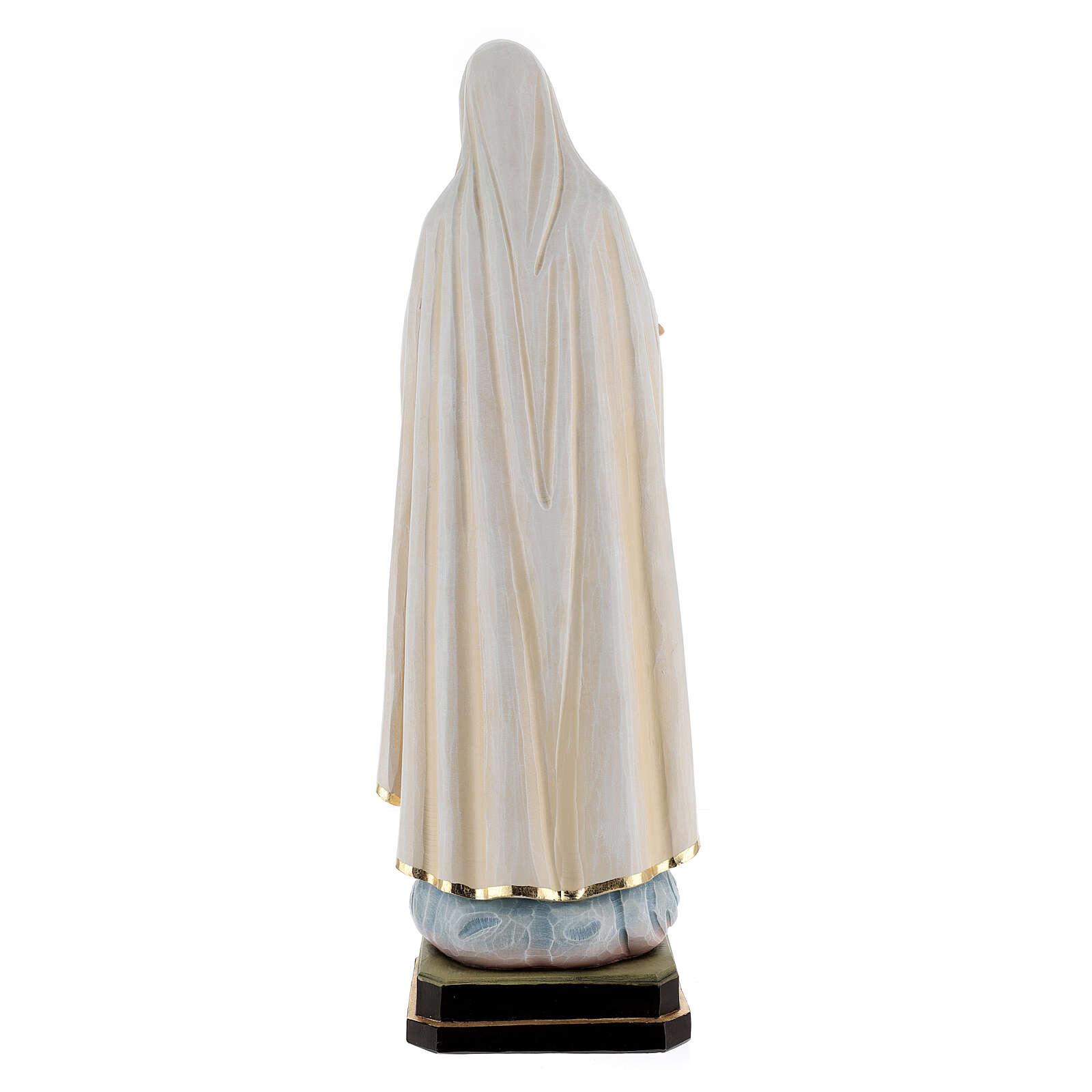 Estatua madera Virgen de Fátima. 4