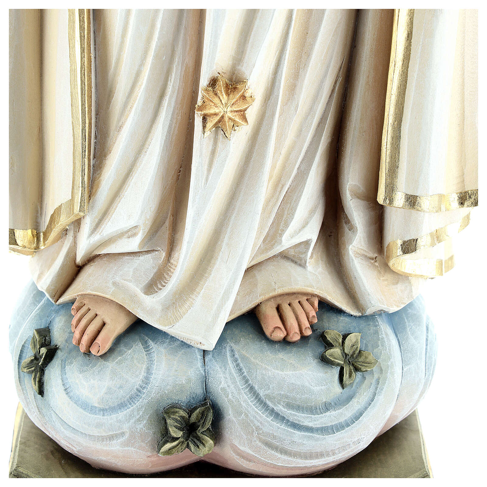 Statua Madonna di Fatima legno dipinto Val Gardena 4