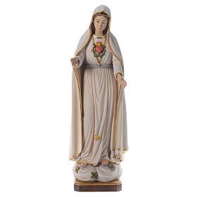 Statua Madonna di Fatima legno dipinto Val Gardena s1