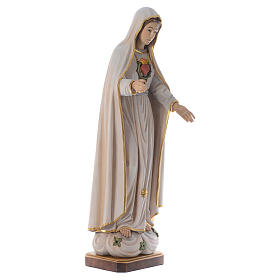 Statua Madonna di Fatima legno dipinto Val Gardena s3