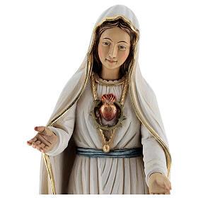 Statua Madonna di Fatima legno dipinto Val Gardena s4