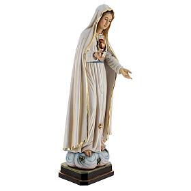 Statua Madonna di Fatima legno dipinto Val Gardena s5