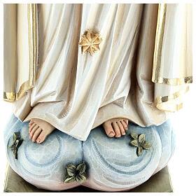 Statua Madonna di Fatima legno dipinto Val Gardena s7