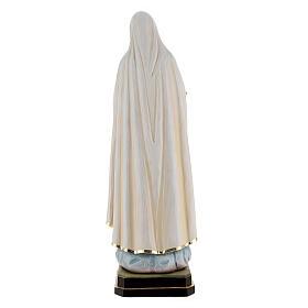 Statua Madonna di Fatima legno dipinto Val Gardena s8