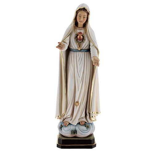 Statua Madonna di Fatima legno dipinto Val Gardena 1