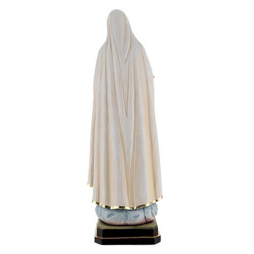 Statua Madonna di Fatima legno dipinto Val Gardena 8