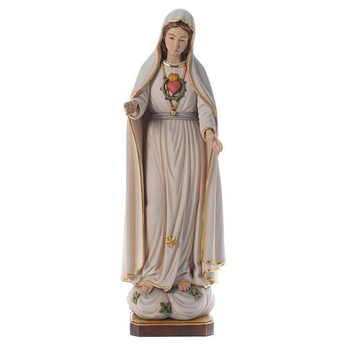 Matka Boska z Fatimy drewniana figurka malowana Val Gardena 1
