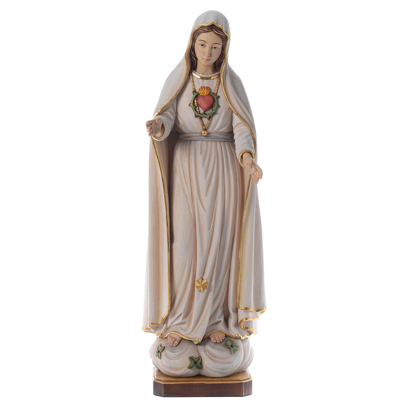 Imagem Nossa Senhora Fátima madeira pintada Val Gardena 4