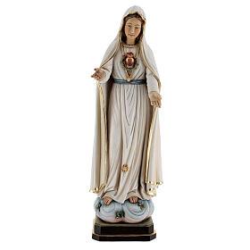 Imagem Nossa Senhora Fátima madeira pintada Val Gardena
