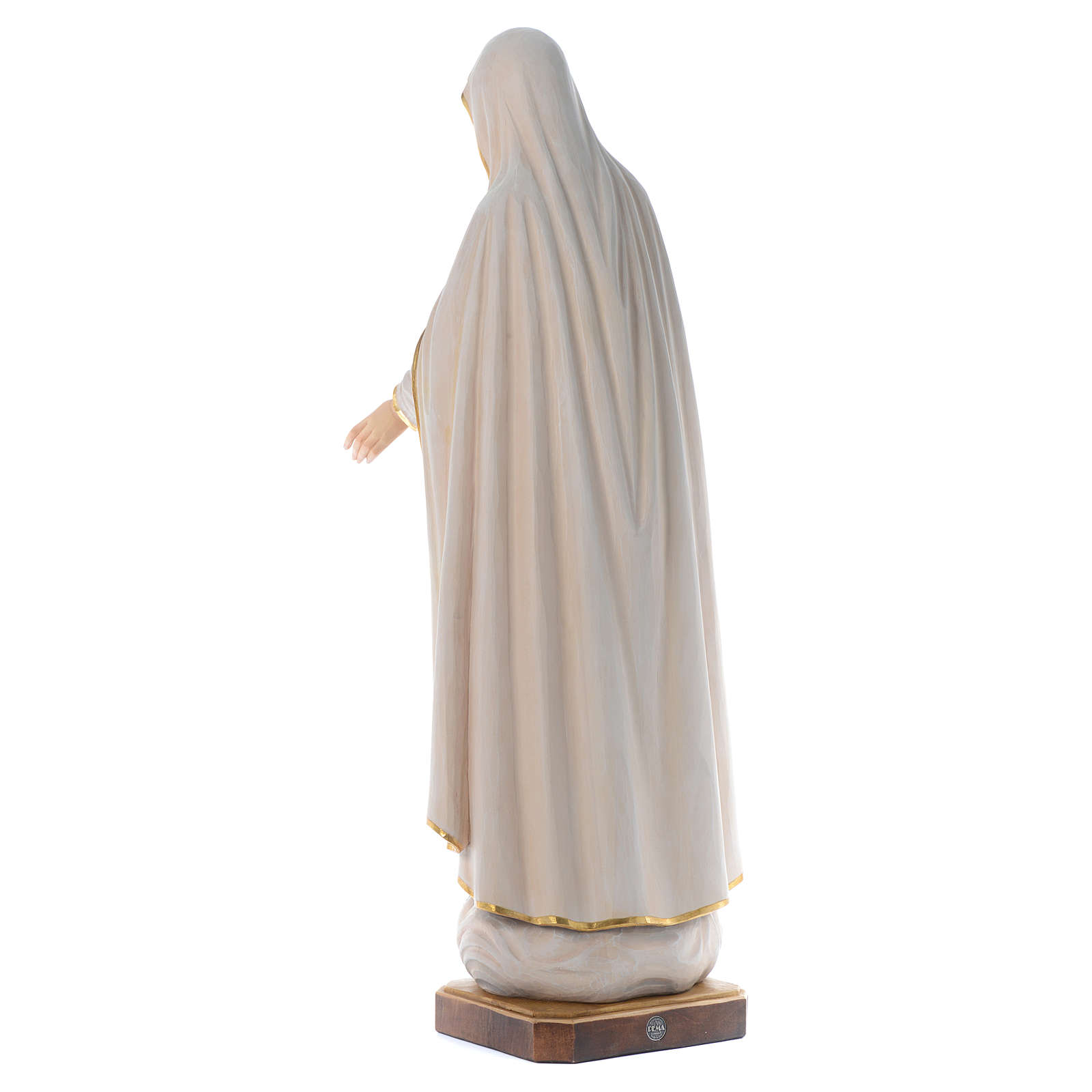 Our Lady of Fatima wooden statue painted 4
