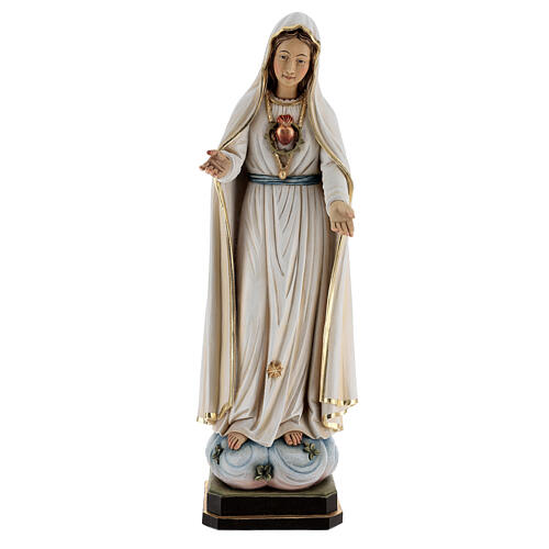 Our Lady of Fatima wooden statue painted 1