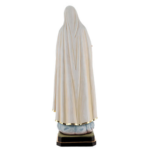 Our Lady of Fatima wooden statue painted 8