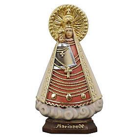 Statues en bois peint: Statue Notre Dame de Mariazell peinte bois Val Gardena