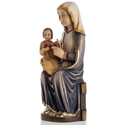 Grödnertal Holzschnitzerei Madonna Mariazell sitzen