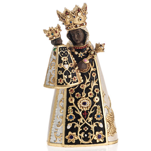 Virgin of Altotting wooden statue painted 1