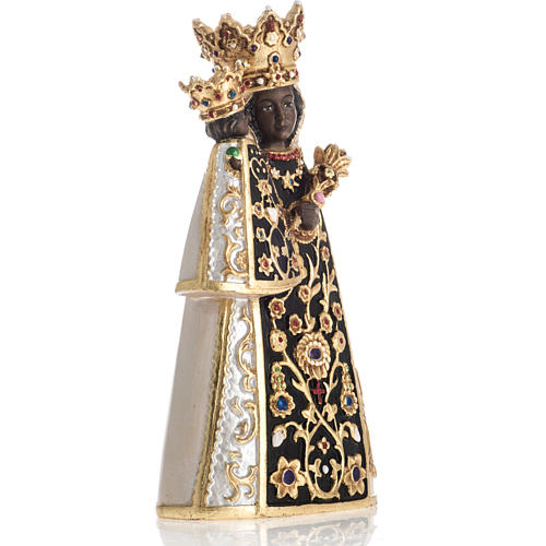 Virgin of Altotting wooden statue painted 3