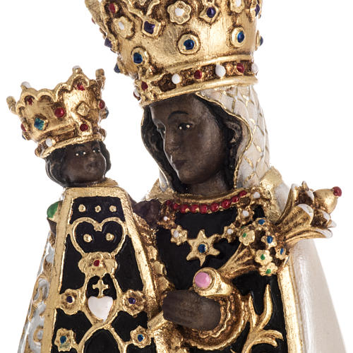 Virgin of Altotting wooden statue painted 5