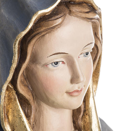 Our Lady of Protection wooden statue painted 10