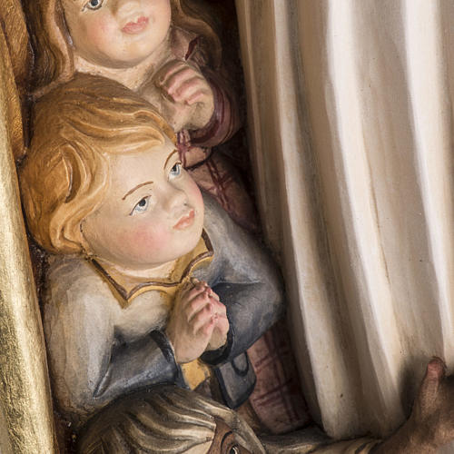 Estatua Virgen de la Protección madera Val Gardena 11