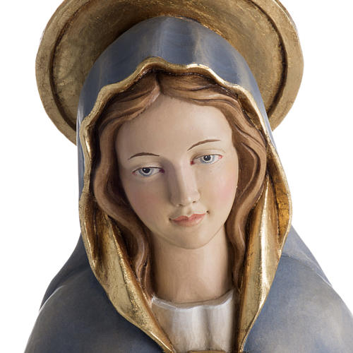 Statue Notre Dame de la Protection peinte bois Val Gardena 2