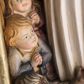 Matka Boska Opiekunka figurka z drewna malowanego Val Gardena s11