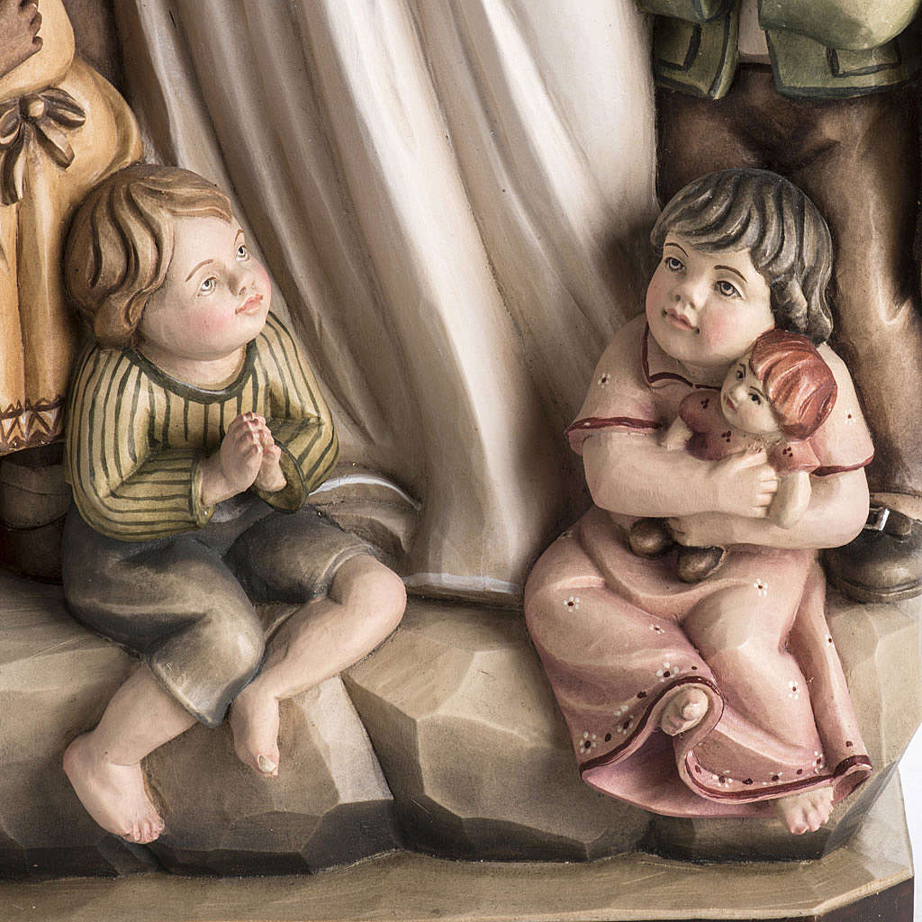 Imagem Nossa Senhora da Proteção madeira pintada Val Gardena 4