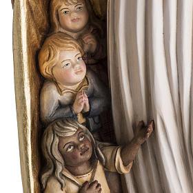 Imagem Nossa Senhora da Proteção madeira pintada Val Gardena s3