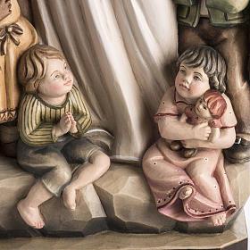 Imagem Nossa Senhora da Proteção madeira pintada Val Gardena s4
