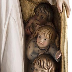 Imagem Nossa Senhora da Proteção madeira pintada Val Gardena s5
