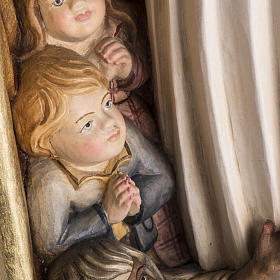 Imagem Nossa Senhora da Proteção madeira pintada Val Gardena s11