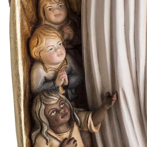 Imagem Nossa Senhora da Proteção madeira pintada Val Gardena 3