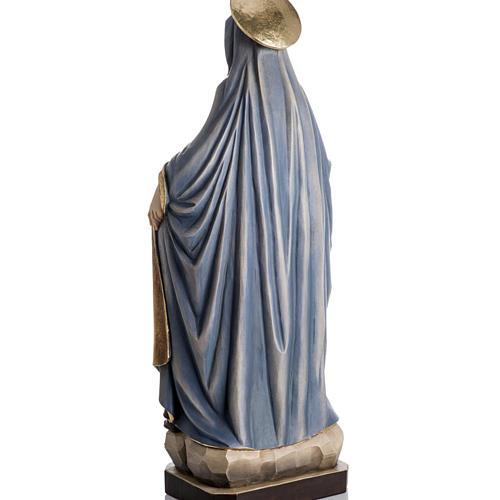 Imagem Nossa Senhora da Proteção madeira pintada Val Gardena 8