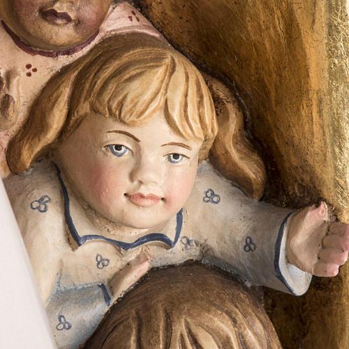 Imagem Nossa Senhora da Proteção madeira pintada Val Gardena 9
