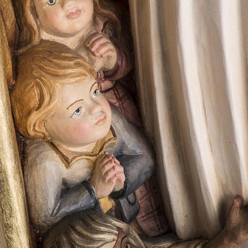 Imagem Nossa Senhora da Proteção madeira pintada Val Gardena 11