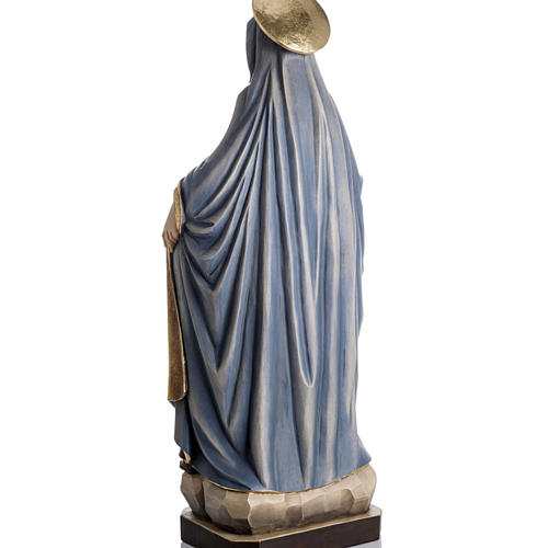 Our Lady of Protection wooden statue painted 8