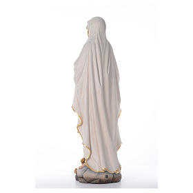 Our Lady of Lourdes wooden statue painted s3