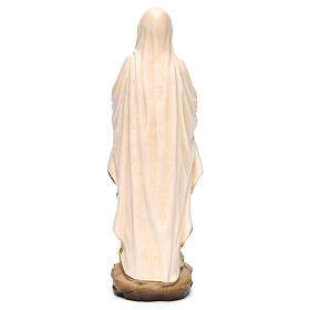 Our Lady of Lourdes wooden statue painted s5