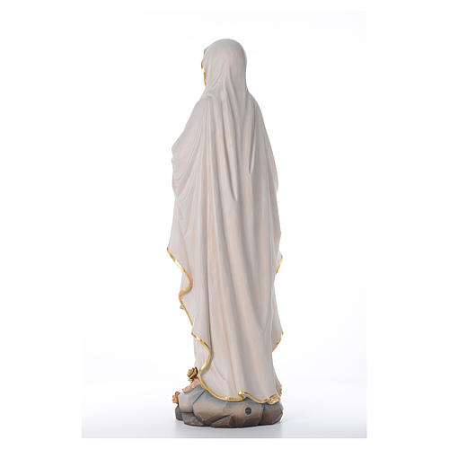 Our Lady of Lourdes wooden statue painted 3