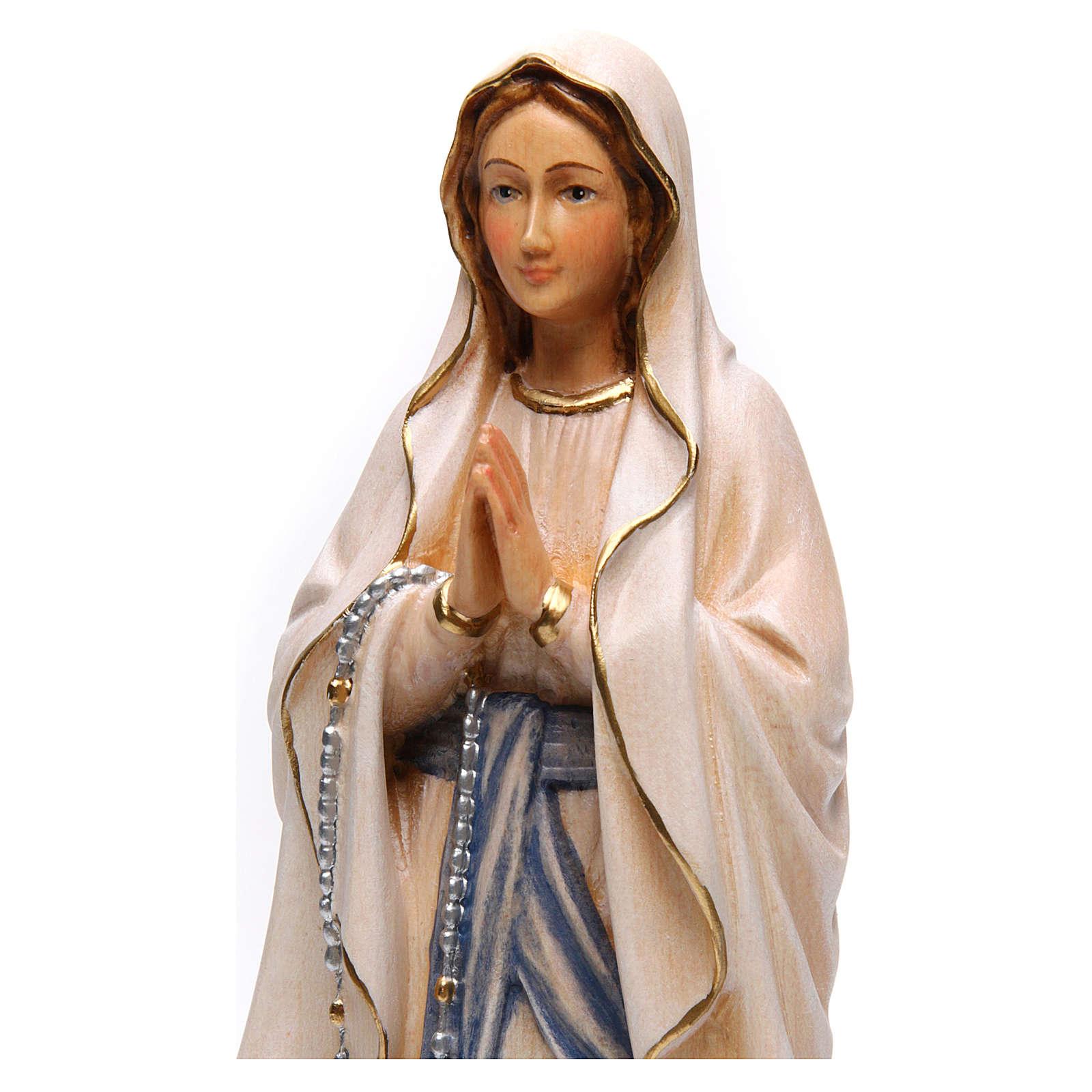 Estatua Nuestra Señora de Lourdes con madera pintada Val 4