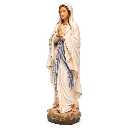 Estatua Nuestra Señora de Lourdes con madera pintada Val 3