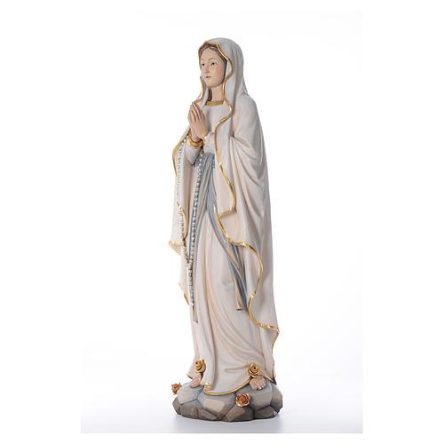 Notre Dame de Lourdes statue peinte bois Val Gardena 2