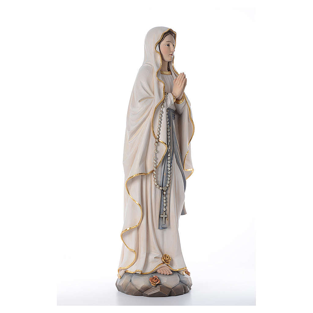 Madonna z Lourdes figurka z drewna malowanego Val Gardena 4