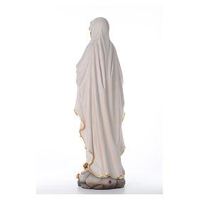 Madonna z Lourdes figurka z drewna malowanego Val Gardena s3