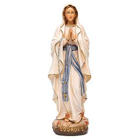 Imagens em Madeira Pintada: Imagem Nossa Senhora de Lourdes madeira pintada
