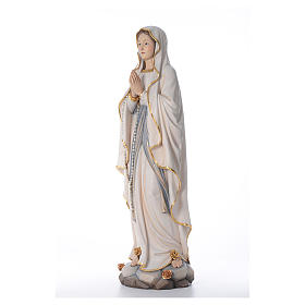 Our Lady of Lourdes wooden statue painted s2