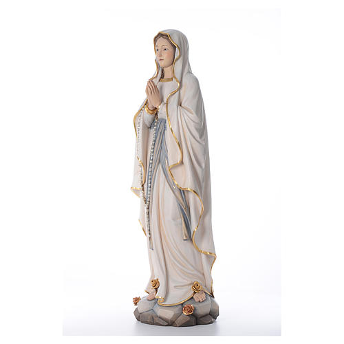 Our Lady of Lourdes wooden statue painted 2
