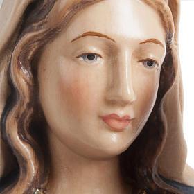 Statua Madonna con bambino legno dipinto Val Gardena s4
