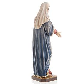 Statua Madonna con bambino legno dipinto Val Gardena s7