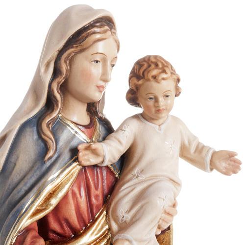 Statua Madonna con bambino legno dipinto Val Gardena 2