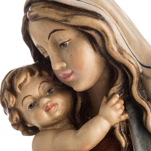 Our Lady of Peace wooden statue painted 3
